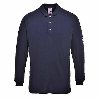 Portwest - Flame Resistant Anti-Static Long Sleeve Polo Shirt