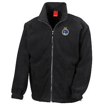 HMS Scott Embroidered logo - Official Royal Navy Full Zip Fleece