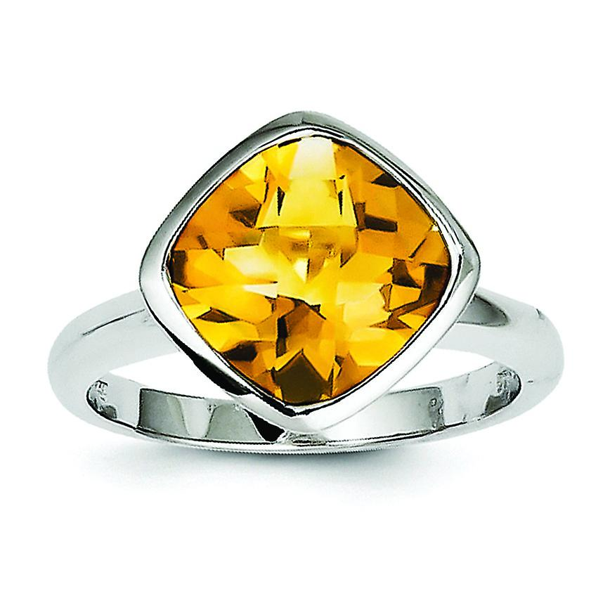 Sterling argent Citrine Ring - Ring Taille  6 to 9