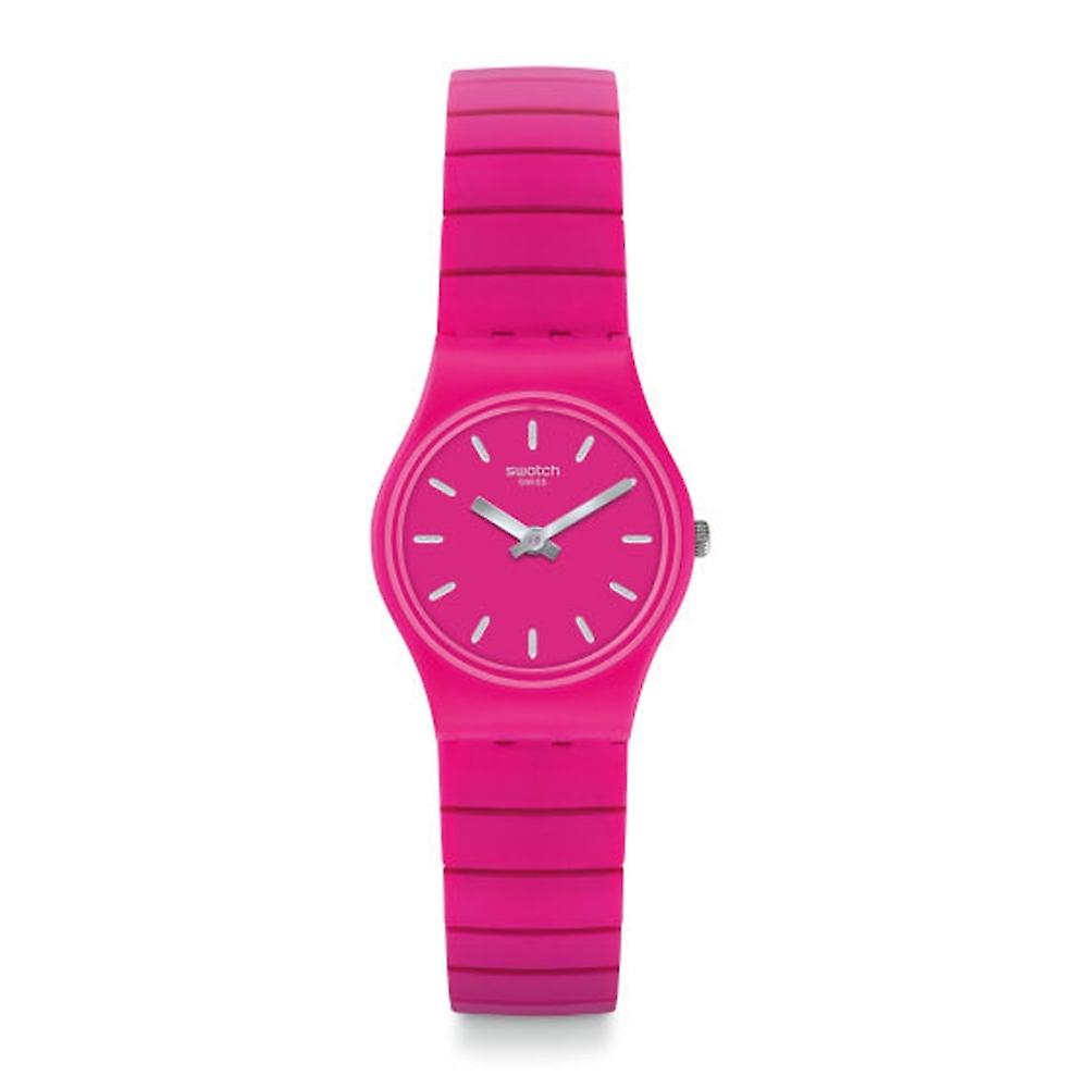 Swatch Lp149b Flexipink Pink Rubber & Stainless Steel Expander Watch