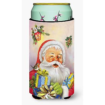 Christmas Santa Claus Presents Tall Boy Beverage Insulator Hugger