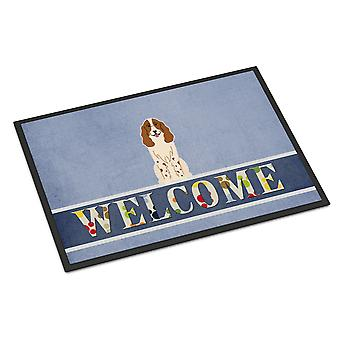 Russian Spaniel Welcome Indoor or Outdoor Mat 18x27