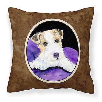 Carolines Treasures  SS8971PW1414 Fox Terrier Decorative   Canvas Fabric Pillow