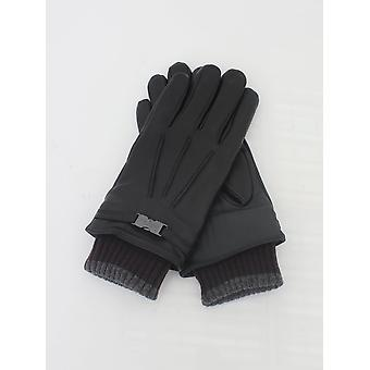 Ted Baker Quiff Cuff Leather Glove - Black