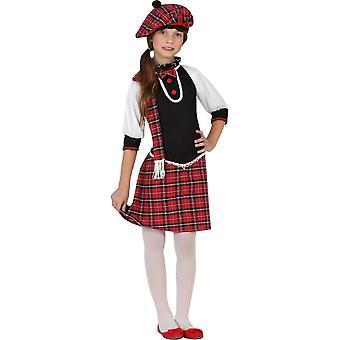 Infantiles disfraces traje de escocesa para niñas