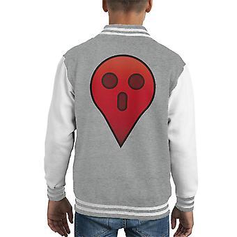 Ghost GPS Halloween Kid's Varsity Jacket