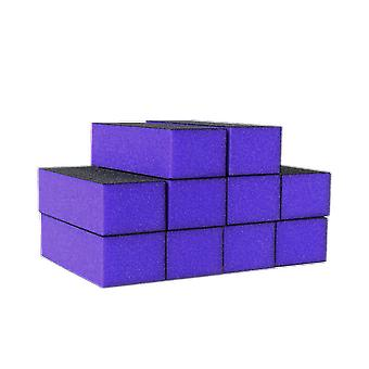 The Edge Nails Purple Sanding Block 60/100 Grit (10 Pack)