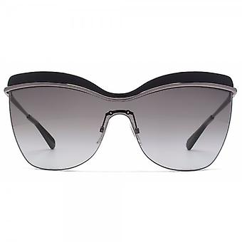 Marc Jacobs Emaille Brow Visor-Sonnenbrille In Dark Ruthenium Schwarz