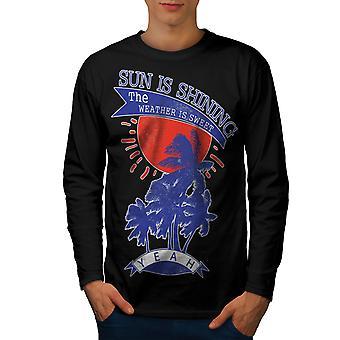 Sun Is Shining vacances hommes noirLong Sleeve T-shirt   Wellcoda
