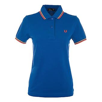 Fred Perry women's FPG360014488 Blau cotton polo shirt