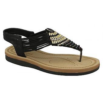 Ladies Womens New Extra Comfort Flat Slingback Toe Post Sandals Shoes