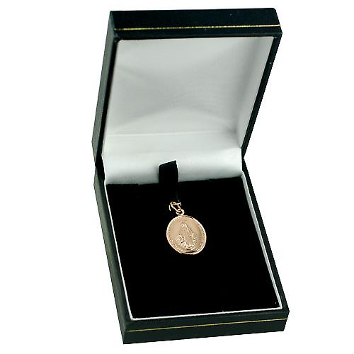9ct Rose Gold 20x16mm Miraculous medal pendant