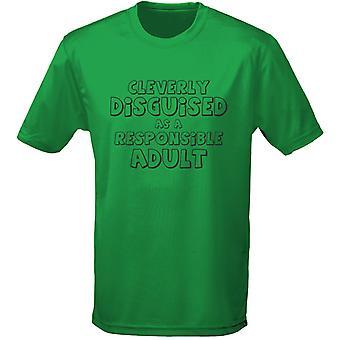 Hábilmente disfrazado como un responsable adulto para hombre camiseta 10 colores (S-3XL) por swagwear