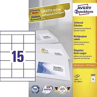 Avery-Zweckform 3669 Labels (A4) 70 x 50.8 mm Paper