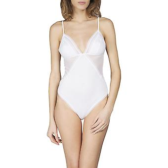Maison Lejaby 17453-03 Women's Cottone-Moi White Cotton Non-Padded Non-Wired Bodysuit Body