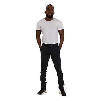 Slim Fit Mens Chinos - Black Smart Casual Chino Trousers Mens Pants