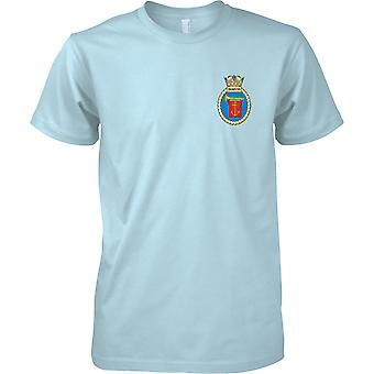 HMS Trumpeter - actual buque de la Armada Real t-shirt color
