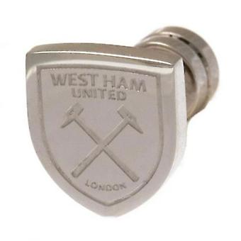 West Ham United Cut Out Stud Earring