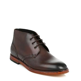 Hudson Mens Brown Houghton 2 Calf Leather Boots