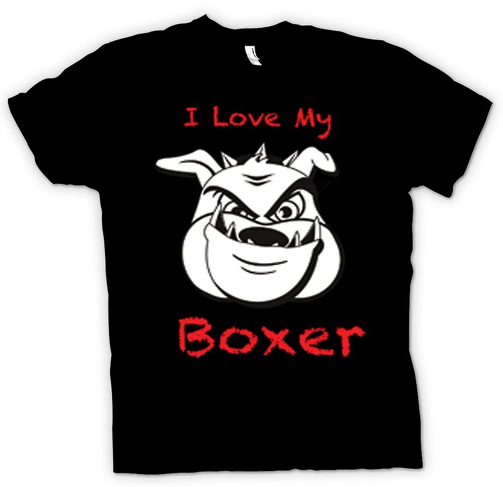 Femmes T-shirt - I Love My Dog Boxer