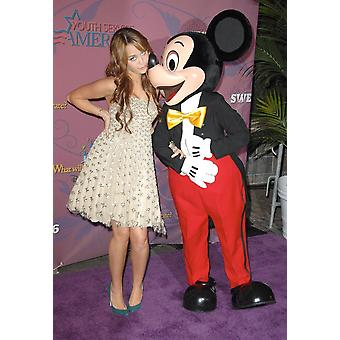 Miley Cyrus At Arrivals For Miley Cyrus Birthday Concert At Disneyland Disneyland Anaheim Ca October 05 2008 Photo By Dee CerconeEverett Collection Celebrity