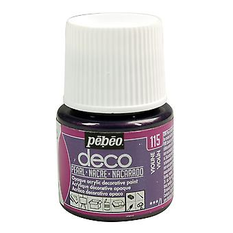 Pebeo Deco Water-Based Pearl Colours 45ml (115 Violine)