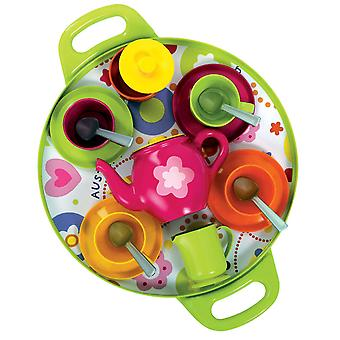 Gowi Toys Pretend Play Afternoon Tea Tray (Pink) Roleplay Set Children Kids