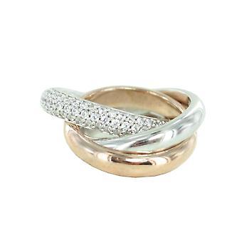 اسبري جمع السيدات خاتم الفضة زركونيا مكعب روز بيريبوا مج 17 ELRG91620A170