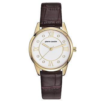 Pierre Cardin ladies watch wristwatch Troca femme leather PC107892F04