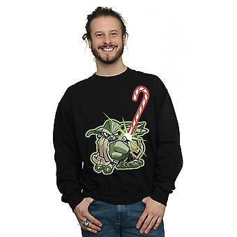 Star Wars Men's Yoda Christmas Candy Cane Sweatshirt