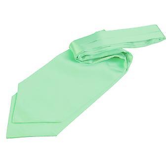 Mint Green Plain Satin Self-Tie Wedding Cravat
