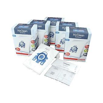 Sac à poussière aspirateur Miele aspirateur HyClean GN efficacité 3D & Filter Pack - Pack de 20 sacs