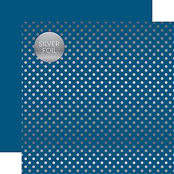 Echo Park Foiled Dot/Stripe Double-Sided Cardstock 12
