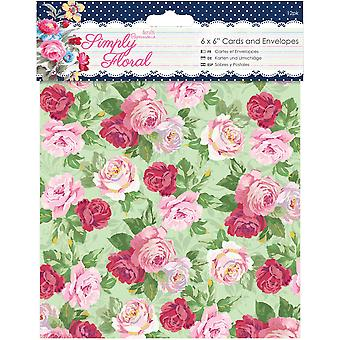 Papermania Simply Floral Cards W/Envelopes 6
