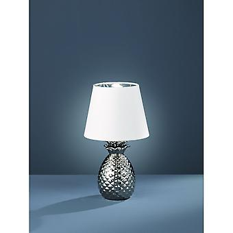Trio Lighting Pineapple Modern Silver Ceramic Table Lamp