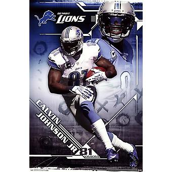 Detroit Lions - Calvin Johnson Jr 2013 Poster drucken