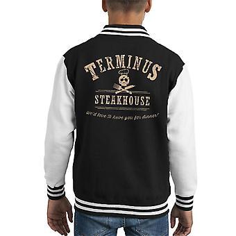 Terminus Steakhouse Walking Dead Kid's Varsity Jacket