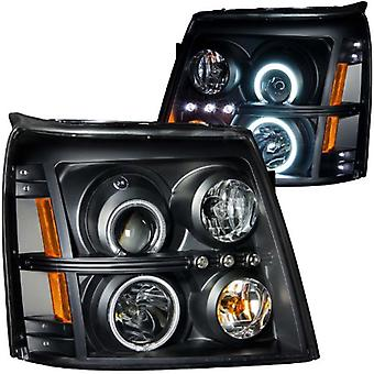 Anzo USA 111142 Cadillac Escalade Projector Halo Black Clear AmberHeadlight Assembly - (Sold in Pairs)