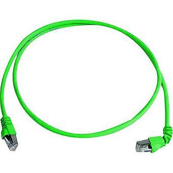 Telegärtner RJ45 Networks Cable CAT 6A S/FTP 2 m Green Flame-retardant, Halogen-free