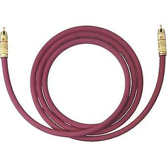 Oehlbach RCA Audio/phono Cable [1x RCA plug (phono) - 1x RCA plug (phono)] 1 m Bordeaux gold plated connectors