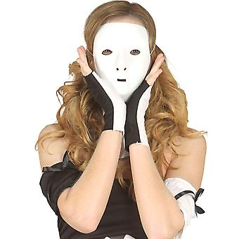 WHITE HALF MASK (TO DECORATE) PVC