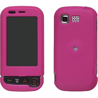 5 Pack -Wireless Solutions Rubberized Case for LG Tritan AX840 UX840 ( Hot Pink)