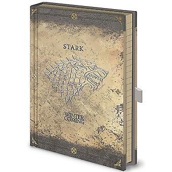 Game Of Thrones Notebook Stark Worn House Sigil new Official  premium A5