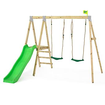 TP Toys Forest Multiplay Wooden Swing Set and Slide With 2 Swing Seats