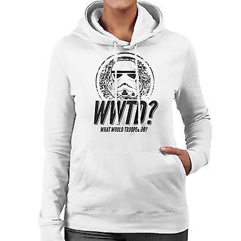 Original Stormtrooper was täten Trooper den Damen Sweatshirt mit Kapuze