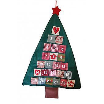 Небес посылает рождественские украшения ткани дерево Адвент календарь