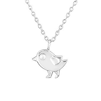 Origami Bird - 925 Sterling Silver Plain Necklaces - W26048x