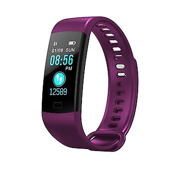 De multifunctionele taak Y5 armband met kleur scherm-paars