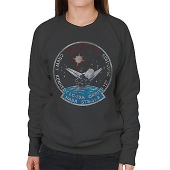 NASA STS 51 F Challenger Mission Badge Distressed Women's Sweatshirt