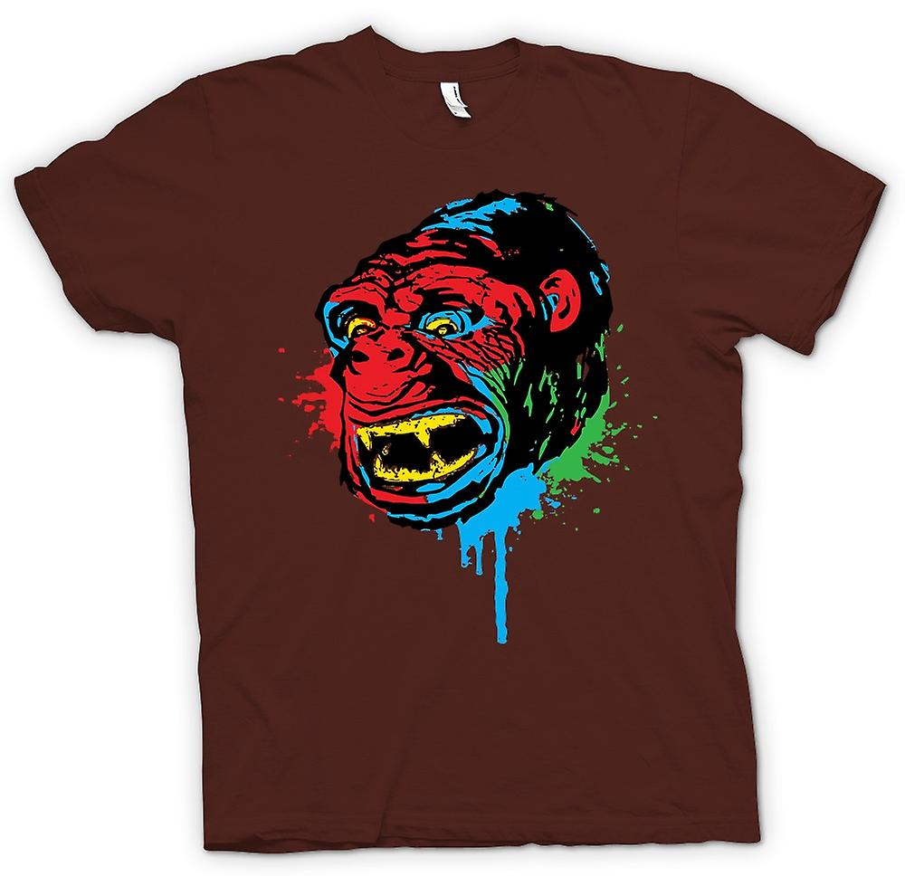 Mens t-shirt-Pop Art - scimmia Gorilla - Cool Design